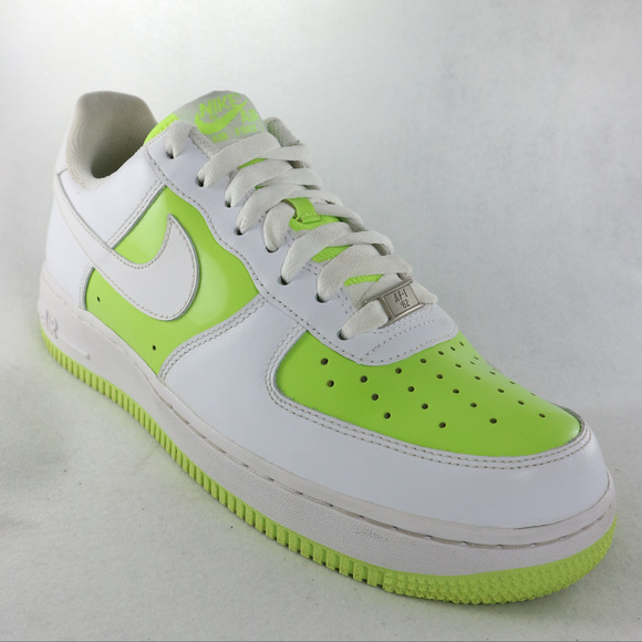 sports shoes 543a6 99d32 NIKE Air Force 1 Low Volt Lime Green White Sneaker.  M 5bdb035da31c3348a03c832e